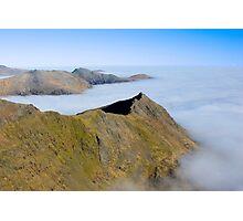 Crib Goch Ridge, Snowdonia, Wales. Photographic Print