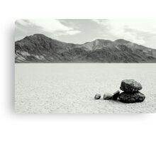 Zen Stones in Racetrack Playa Canvas Print