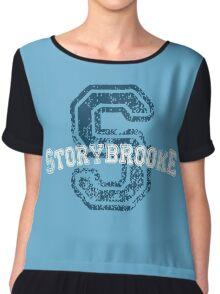 Storybrooke - Blue Chiffon Top