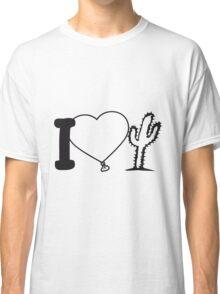 i love love heart cactus nature desert gardener plants gardening green thumb Classic T-Shirt