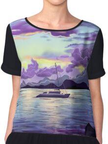Seaside Sunset Chiffon Top