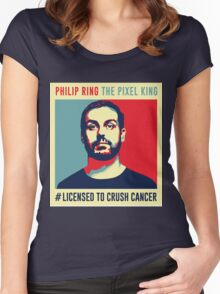 Phil Ring Pixel King Women's Fitted Scoop T-Shirt