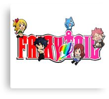 Chibi Characters Fairy Tail, Anime Metal Print