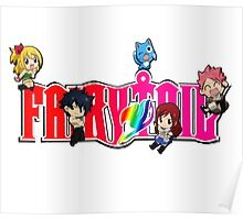 Chibi Characters Fairy Tail, Anime Poster