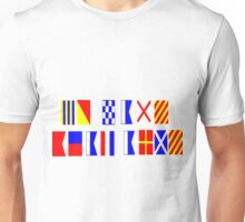 Go Navy, Beat Army in Signal Flags Unisex T-Shirt