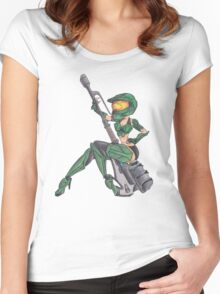 Mistress Chief Pin UP Women's Fitted Scoop T-Shirt