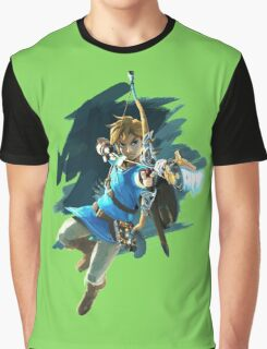 Link from Zelda Wii U: Breath of the Wild Graphic T-Shirt