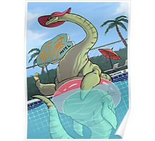 Plesiosaur in the Pool Poster