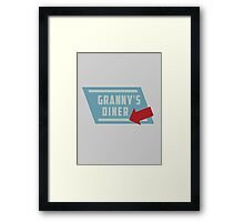 Granny's Diner Framed Print