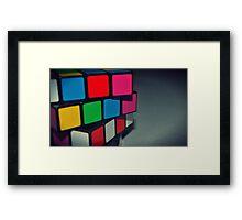 Cube! Framed Print
