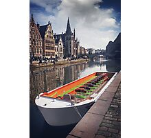Ghent by Boat Photographic Print