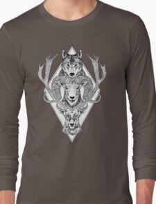 Wolf Ram Hart Long Sleeve T-Shirt