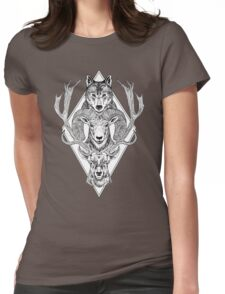 Wolf Ram Hart Womens Fitted T-Shirt