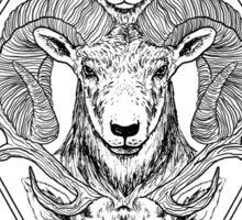 Wolf Ram Hart Sticker