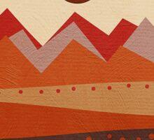 Geometric Landscape I Sticker