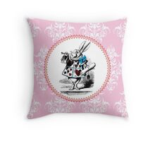 Alice in Wonderland | The Herald of the Court of Hearts | White Rabbit Throw Pillow
