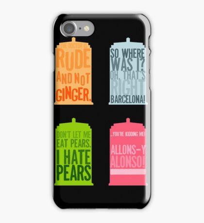 Tardis Quotes iPhone Case/Skin