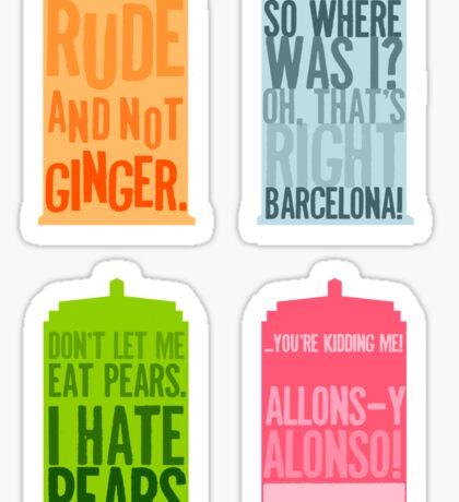 Tardis Quotes Sticker