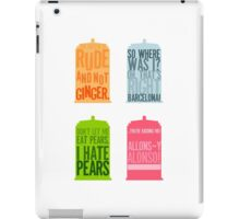 Tardis Quotes iPad Case/Skin