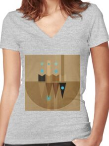Geometric/Abstract 10 Women's Fitted V-Neck T-Shirt