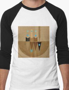 Geometric/Abstract 10 Men's Baseball ¾ T-Shirt