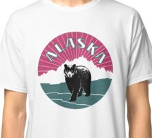 Retro Alaska travel ad, bear Classic T-Shirt