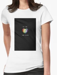 To the Moon Pride Heart Womens Fitted T-Shirt