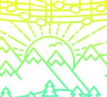 Mountain Notes Sticker