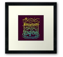 Mountain Notes Framed Print