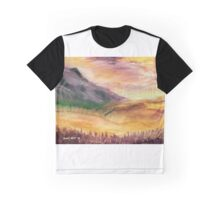 """Moors and Mountains"" - a purple view Graphic T-Shirt"