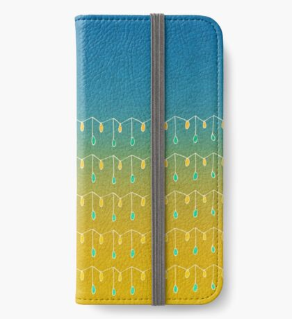 Droplets, Blue and Yellow iPhone Wallet