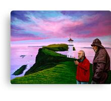 Lighthouse at Mykines Faroe Islands Painting Canvas Print