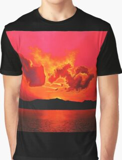 Earth Sunset Painting Graphic T-Shirt