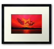 Earth Sunset Painting Framed Print