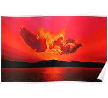 Earth Sunset Painting Poster