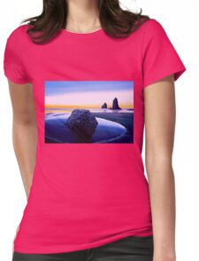 Earth Sunrise Painting Womens Fitted T-Shirt