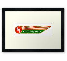 Miata Club of Hawaii 1962 Mazda Wing Logo Print Framed Print