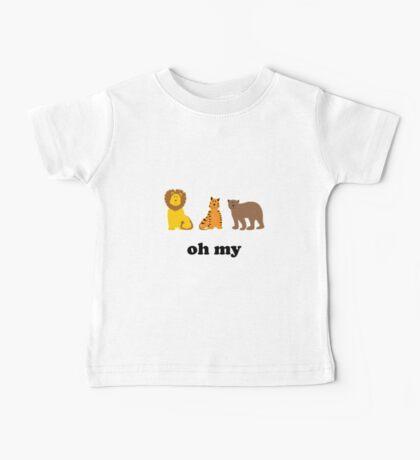 Lions Tigers Bears Oh My Baby Tee