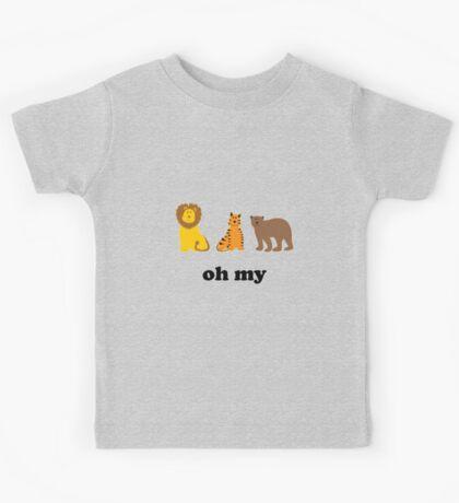 Lions Tigers Bears Oh My Kids Tee