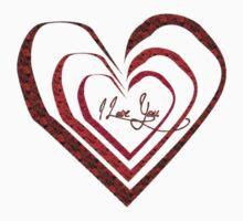 I love you - heart Kids Tee