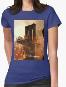 Th apocalypse in the city Womens Fitted T-Shirt
