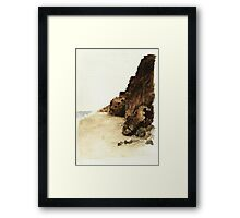 Seaside Mountains Framed Print