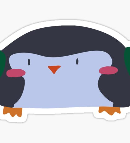 Wide Penguin Sticker