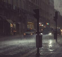 A Rainy Night In Lisbon. by Elephantman