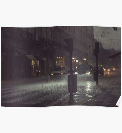 A Rainy Night In Lisbon. Poster