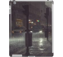 A Rainy Night In Lisbon. iPad Case/Skin