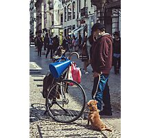 One Man & His Dogs Photographic Print