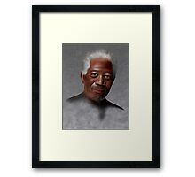 Freemonteir V1 - Morgan Freeman portrait Framed Print