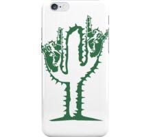 hard rock heavy metal hand gesture horns satan devil evil hands music party celebrate funny cactus iPhone Case/Skin