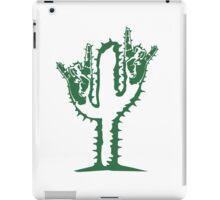 hard rock heavy metal hand gesture horns satan devil evil hands music party celebrate funny cactus iPad Case/Skin